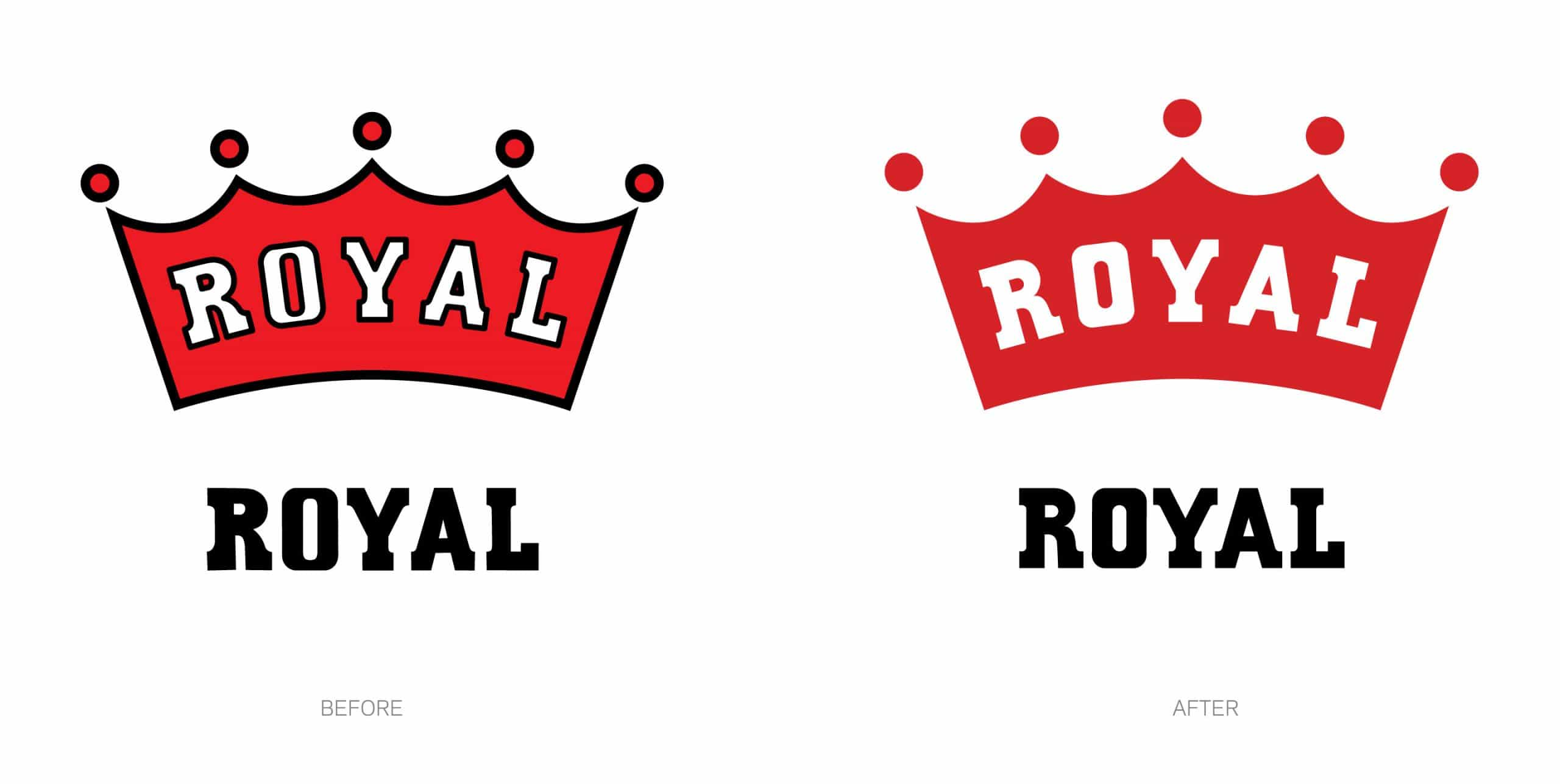 New and older Royal identity