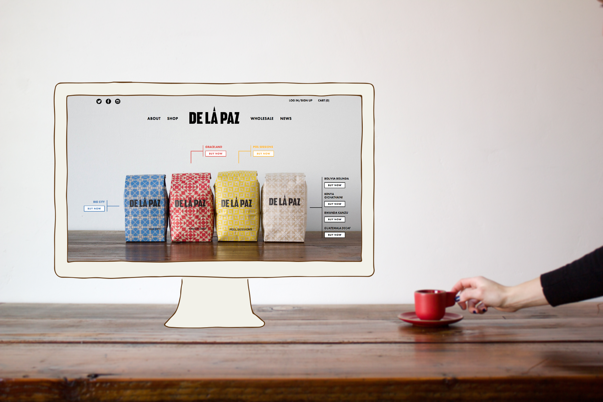 De La Paz Coffee Website by Needmore
