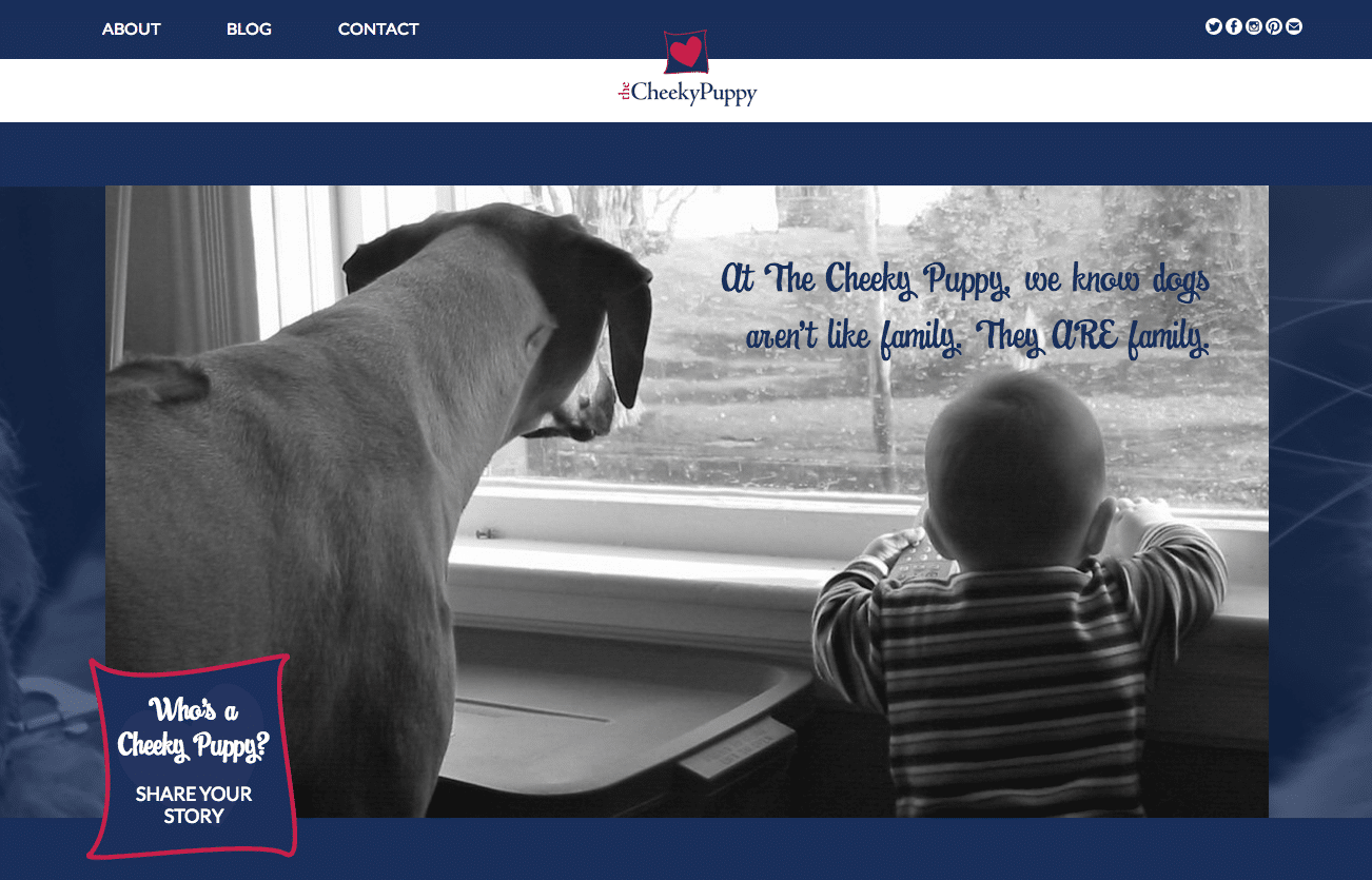 The Cheeky Puppy website