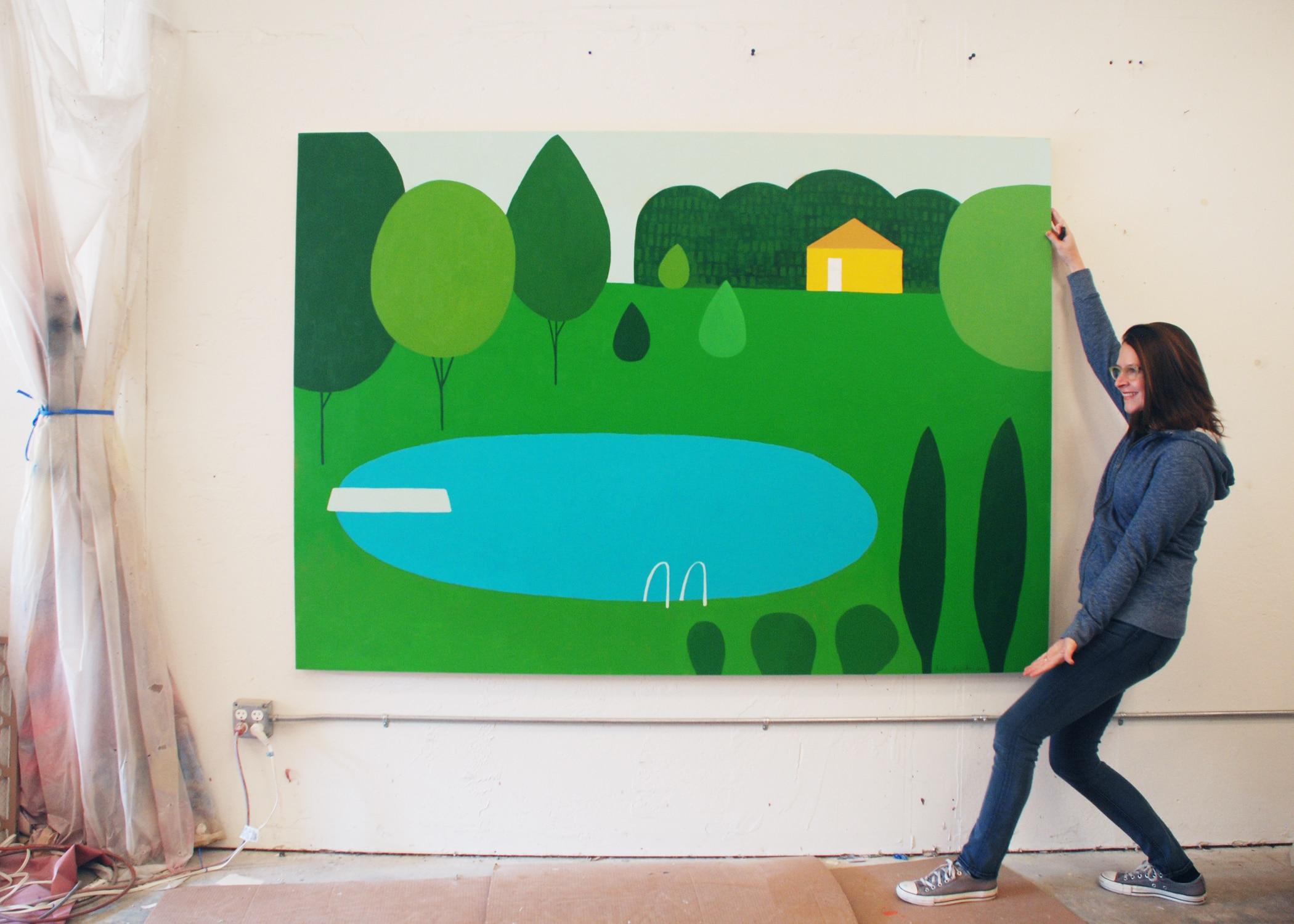 Lisa DeJohn in the studio