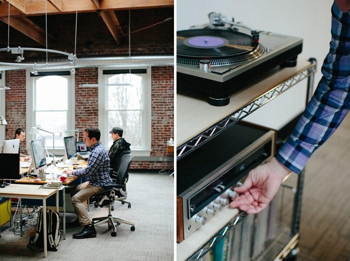 Needmore Studio and vinyl, shot by Ashley Forrette