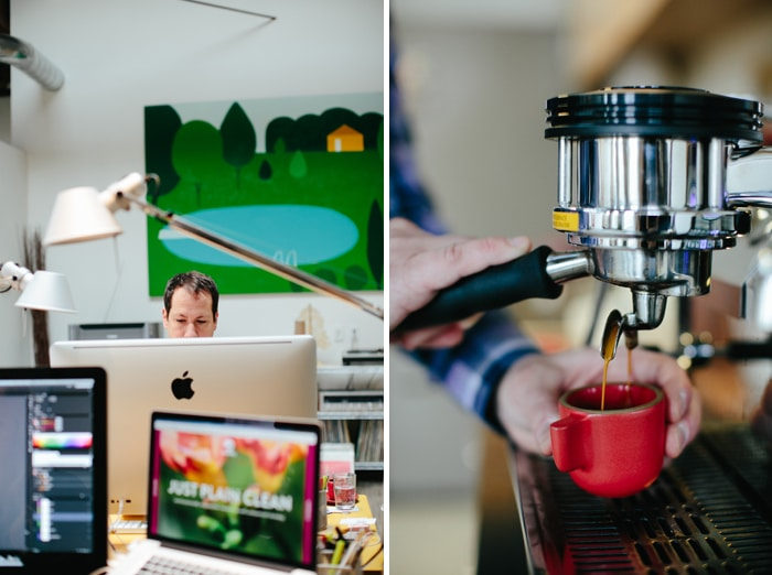 Needmore Studio and espresso shot, shot by Ashley Forrette