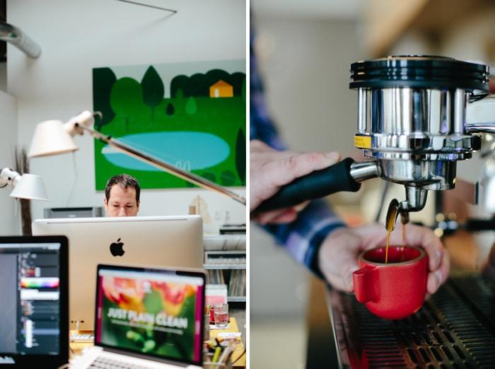 Needmore Studio and espresso shot, shot by Ashley Forrette