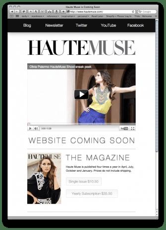 HauteMuse: Coming Soon