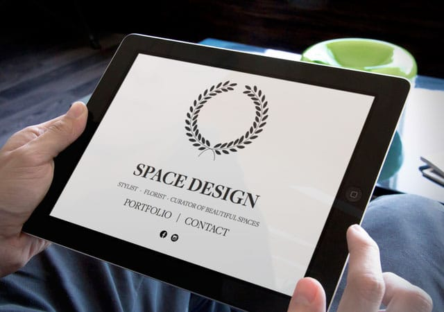 Space Design home page, website by Needmore Designs